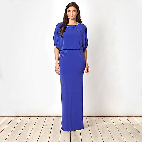 Star by Julien Macdonald - Designer purple double bar maxi dress