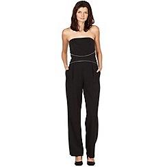 Star by Julien MacDonald - Designer black strapless zip jumpsuit