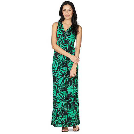 Star by Julien Macdonald - Designer green maxi palm print dress