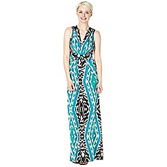 Star by Julien Macdonald - Designer black animal and aztec jersey maxi dress