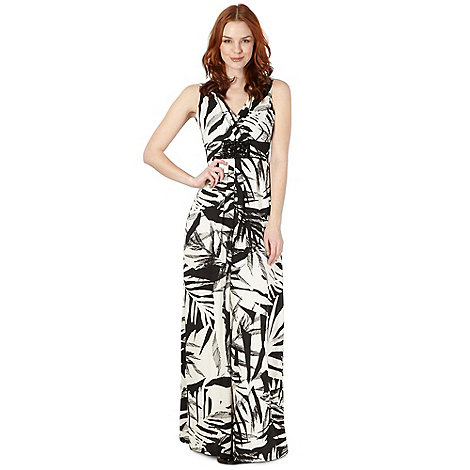 Star by Julien Macdonald - Designer black palm print maxi dress