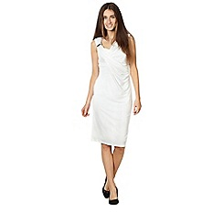 Star by Julien MacDonald - Designer ivory shoulder trim dress