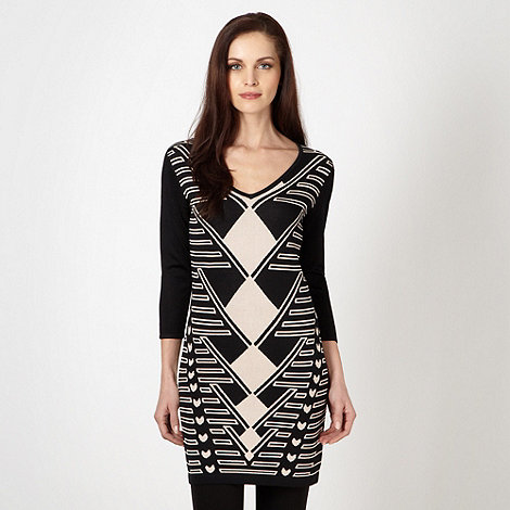 Star by Julien Macdonald - Designer black knitted graphic tunic