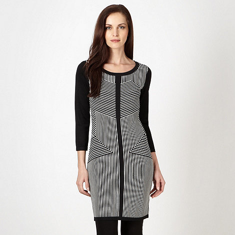 Star by Julien Macdonald - Designer black striped monochrome tunic