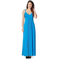 Star by Julien MacDonald - Designer bright blue metal trim maxi dress