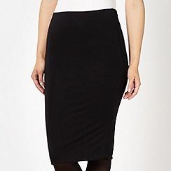 Star by Julien Macdonald - Designer black jersey midi skirt