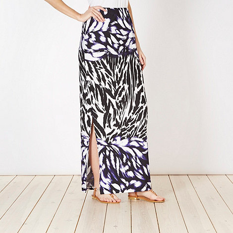Star by Julien MacDonald - Designer purple graphic print maxi skirt