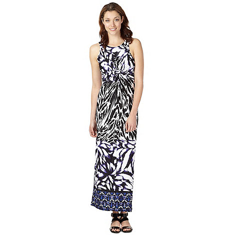 Star by Julien Macdonald - Designer purple printed twisted maxi dress
