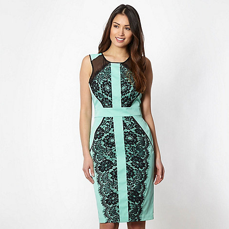 Star by Julien Macdonald - Designer light turquoise lace overlay dress
