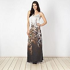 Star by Julien Macdonald - Designer black animal camisole maxi dress