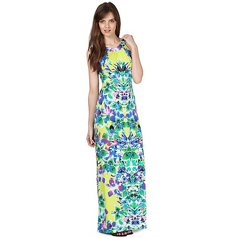 Star by Julien Macdonald - Designer blue floral print maxi dress