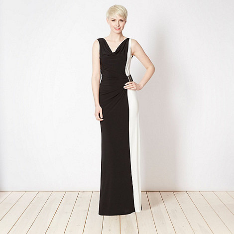 Star by Julien Macdonald - Designer black colour block maxi dress