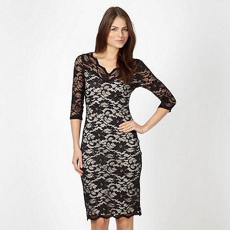 Diamond by Julien Macdonald - Designer black lace bodycon dress
