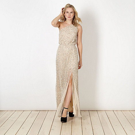 Diamond by Julien Macdonald - Designer cream sequin maxi dress