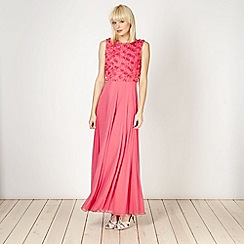 Diamond by Julien Macdonald - Designer dark peach petal maxi dress