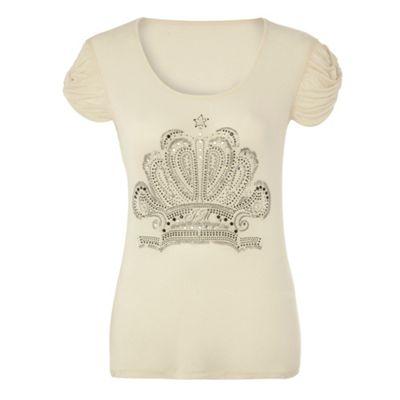 Ivory logo crest t-shirt