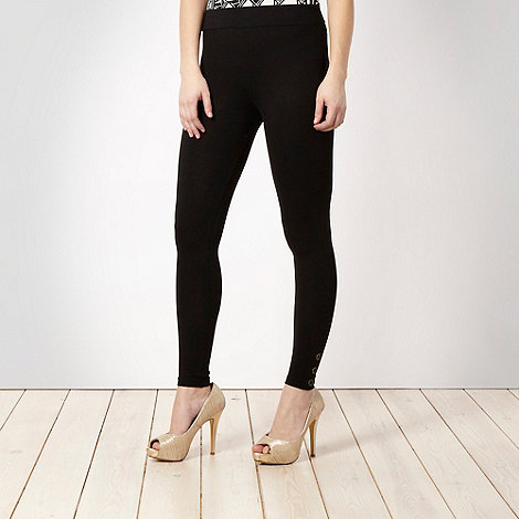 Star by Julien Macdonald - Black tab button leggings