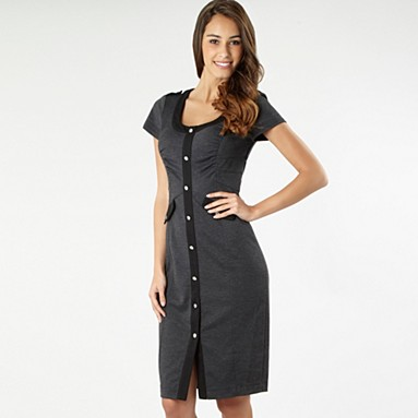 Grey panelled bodycon jersey dress