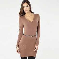 Star by Julien MacDonald - Brown belted pocket tunic