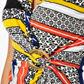 Star by Julien Macdonald - Designer white multi patterned jersey wrap dress Alternative 2