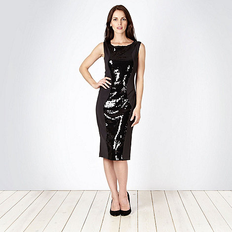 Star by Julien Macdonald - Designer black sequin panelled jersey dress