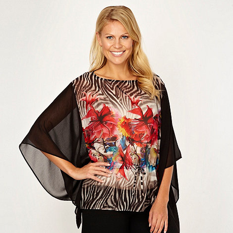 Star by Julien Macdonald - Designer black zebra kaftan