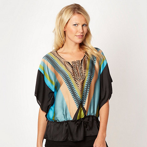 Star by Julien Macdonald - Designer aqua geometric tribal kaftan
