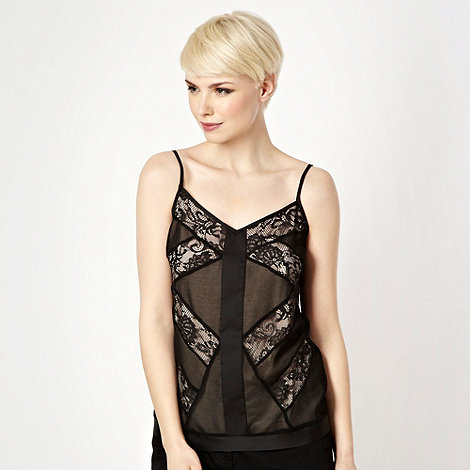 Star by Julien Macdonald - Black lace camisole - size 14