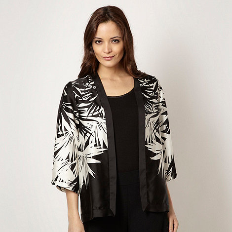 Star by Julien Macdonald - Designer black leaf patterned kimono jacket