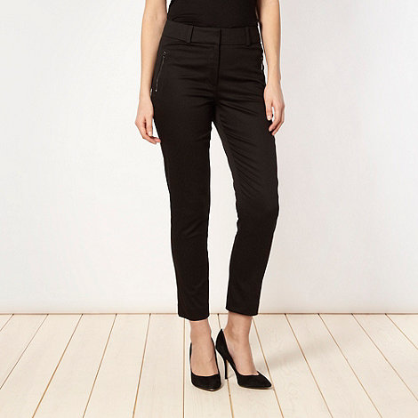Star by Julien Macdonald - Designer black sateen cropped trousers
