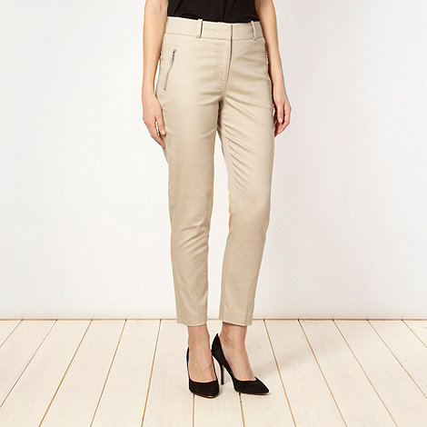 Star by Julien Macdonald - Designer natural sateen cropped trousers