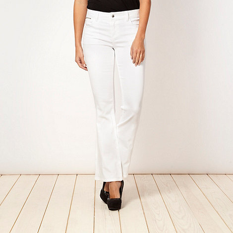 Star by Julien Macdonald - Designer white bootcut jeans