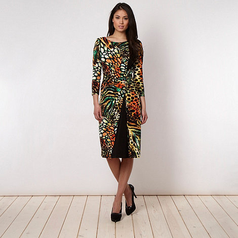 Star by Julien Macdonald - Animal printed wrap dress - size 8