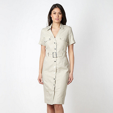 Star by Julien Macdonald - Designer natural linen blend shirt dress