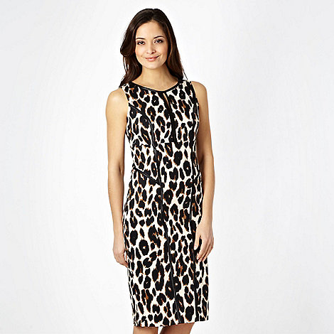 Star by Julien Macdonald - Designer black animal printed sateen bodycon dress