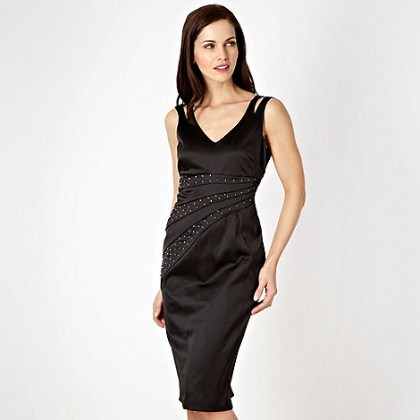 Star by Julien Macdonald - Designer black stud split strap dress