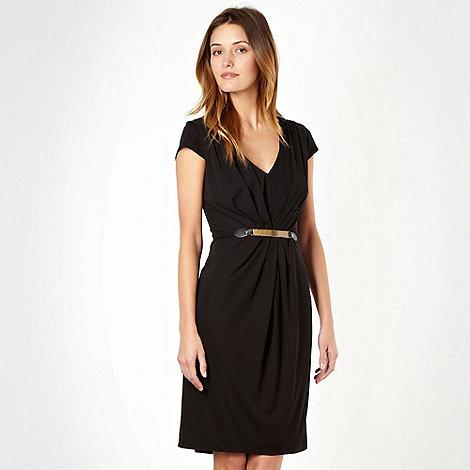 Star by Julien Macdonald - Designer black bar waisted jersey dress - size 8