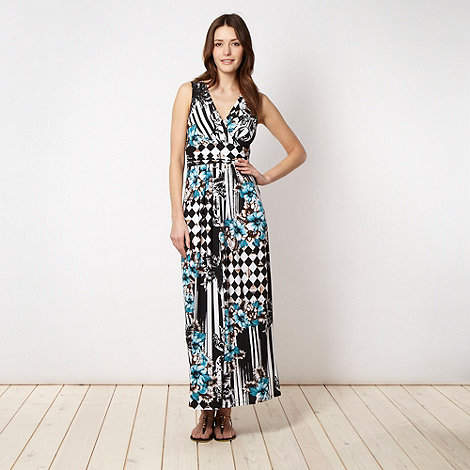 Star by Julien Macdonald - Designer black harlequin checked jersey dress