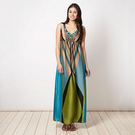 Star by Julien Macdonald - Designer aqua geometric maxi dress