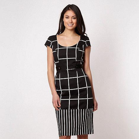 Star by Julien Macdonald - Designer black checkerboard shift dress - size 12