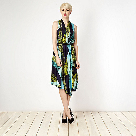 Star by Julien Macdonald - Designer aqua snake cocktail dress