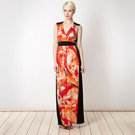 Star by Julien Macdonald - Designer dark peach floral maxi dress