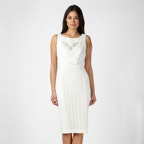 Star by Julien Macdonald - Designer ivory embellished lace dress