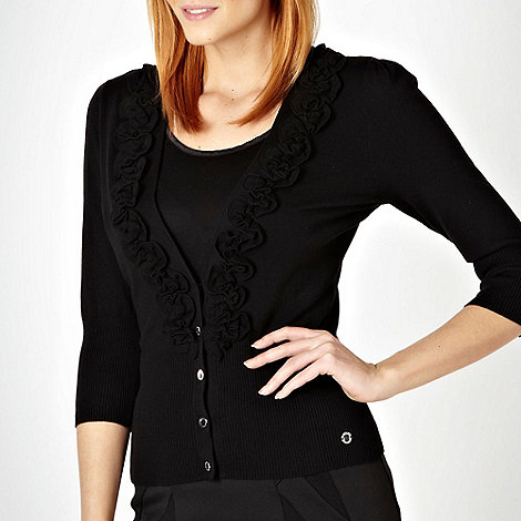 Star by Julien Macdonald - Black frilly trimmed cardigan