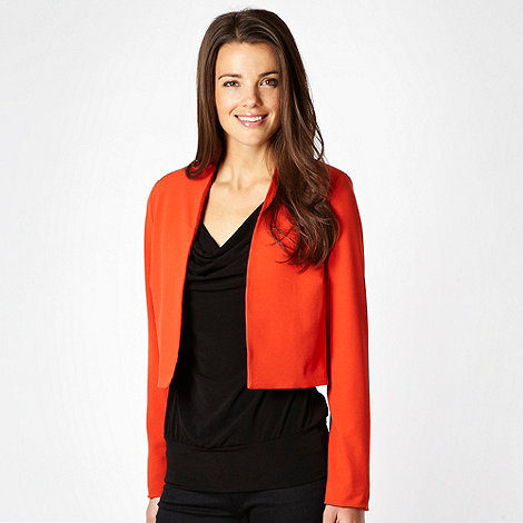 Star by Julien Macdonald - Dark orange crepe jacket - size 18