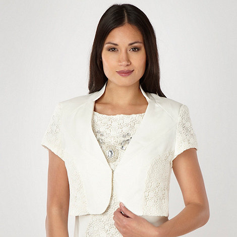Star by Julien Macdonald - Designer cream lace insert bolero