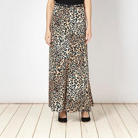 Star by Julien Macdonald - Designer natural animal maxi skirt