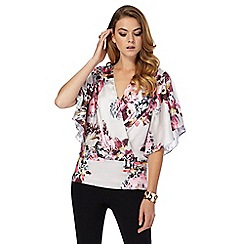 Star by Julien Macdonald - Multi-coloured floral print kimono top