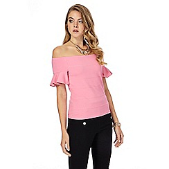 Star by Julien Macdonald - Pink Bardot ponte top