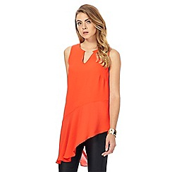 Star by Julien Macdonald - Dark orange asymmetrical top